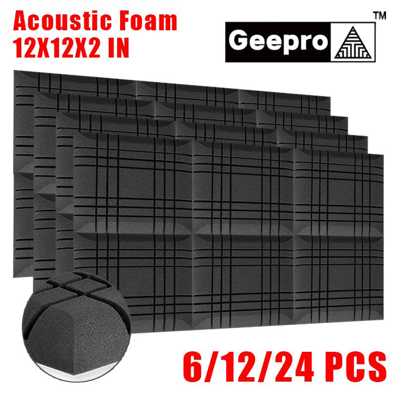 Geepro 11.8x11.8x2in Acoustic Foam Big Soundproofing Acoustic Panel Noise Isolation for Studio Acoustic Isolator Soundproof Foam